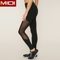 Buy cheap Ladies Athletic Mesh 230gsm High Waisted Black Yoga Pants from wholesalers
