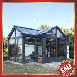Buy cheap super durable prefab solar villa garden tempered glass metal aluminium aluminum alloy sunroom sun room house cabin kits from wholesalers