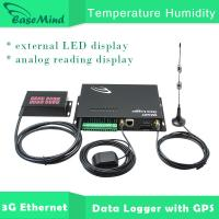 Buy cheap Temperature Humidity 3G Ethernet Data Logger with GPS feature from wholesalers