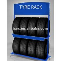 Buy cheap 2 Layers Metal Auto Parts Display Racks For Garage Wheels Storage Custom Color from wholesalers