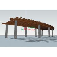 Arch Covered Pergola Kits Anti - UV , Rotproof Modern Pergola Kit 19.3m * 4.55m
