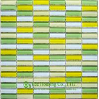 Buy cheap Strip Glass Crystal Mosaic Tile for Bathroom and Kitchen,China Glass mosaic tile For Sale from wholesalers