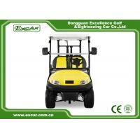 Buy cheap Excar Golf Buggy Electric 2 Seater Yellow And Black ISO/CE Approved from wholesalers