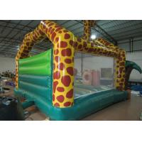 Buy cheap Amusement Park Custom Made Inflatables Giraffe Bounce Combo Enviroment - Friendly from wholesalers