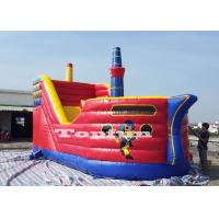 Buy cheap 8m Inflatable Jumping Castle Pirates Galleon With Slide 0.55 mm PVC Tarpaulin from wholesalers
