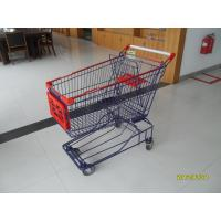 Buy cheap 150L Wire Mesh Supermarket Trolley Carts With Advertisement Borad from wholesalers