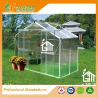 China Sliver Color Aluminum Polycarbonate Flowerhouse Used For Sale - 4'x8'x6.7'FT on sale