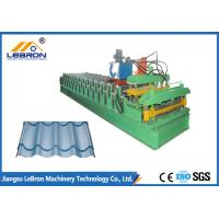 Buy cheap 7.5 KW Blue Color Double Deck Roll Forming Machine For Corrugated Roof / Glazed Tile from wholesalers