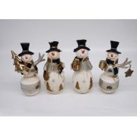 Buy cheap Christmas Snowman Polyresin Crafts Material Hand Made Logo Customized from wholesalers