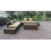 Buy cheap Plastic Rattan Furniture Soft Set With 100x100x70cm Middle Sofa from wholesalers