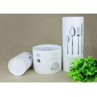 Buy cheap Creative White Cardboard Paper Composite Cans with different sizes for Knife and Fork from wholesalers