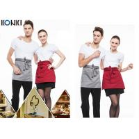 Buy cheap Woven Cotton Cute Cooking Aprons , Short Red Apron For Men And Women from wholesalers