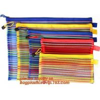 Buy cheap Wholesale Office School Supply A4/5/6 Mesh Zipper Document Bag Multicolor PVC A4 Archives Contract,Office School Supplie from wholesalers