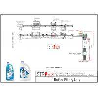 Foaming Liquid Filling And Sealing Machine Line For Floor / Glass Cleaner