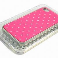 Buy cheap Fashionable Case with Unique Design and PU Plating for iPhone 4S from wholesalers