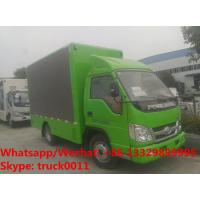 Buy cheap cheapest price Customized Forland 4*2 RHD diesel mobile LED advertising vehicle for sale, P6 LED screens billboard truck from wholesalers
