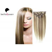 Buy cheap Brazilian Straight Virgin Clipping In Hair Extensions 6#/613# Ombre product