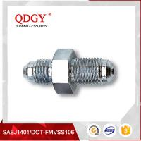 Buy cheap qdgy steel material with chromed plated coating -3 AND -4 AN  SAE Brake Adapter Fittings10MM X 1.25 Male from wholesalers