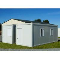 Buy cheap Gable - Roof Modular Container House , Steel Door Fireproof White Container House from wholesalers