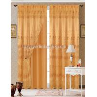 organza embroidery curtain with fashion valance,with lining