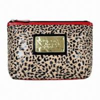 Buy cheap Sexy Leopard Animal Print Zipper Women's Cosmetic Case Lady Totes Handbag, Mobile/Cellphone Card Hol from wholesalers