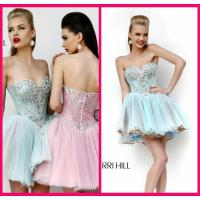 Buy cheap Light Blue Homecoming Dress Sweetheart Mini Short Beading Appliques Zipper from wholesalers