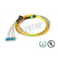 LC UPC MPO Trunk Cable Multimode , 8- Core MPO Fiber Optic Connector