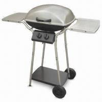 Buy cheap Stainless Steel Four-burner Gas Barbecue Grill with Wheel and Cast Iron Heating Stove from wholesalers
