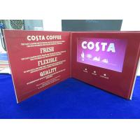 Buy cheap VIF Free Sample Customized printing 7 inch lcd HD screen video brochure bult in 2GB memory for invitation,advertising product