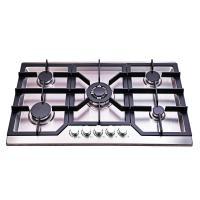 Kitchen Built In 5 Burner Gas Hob Stainless Steel Luxury Design 860*510mm
