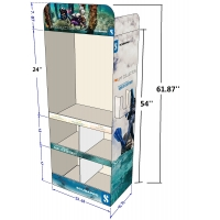 Buy cheap Corrugated Floor Display Cardboard Sidekick Stand with Grids for Clothes Retail from wholesalers