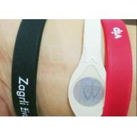 China Customize Promotional Rubber Bracelets , Printed Silicone Wristbands Ultra Resistant on sale