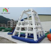 Buy cheap White / Blue Heat Sealed Inflatable Water Toy / Aqua PVC Climbing Tower With from wholesalers