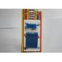 Buy cheap Novelty Blue Glitter Birthday Candles 10 Pcs / 14.3g No Somke SGS Approval from wholesalers