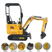Buy cheap 1 ton Chinese Pit Digger Machine Mini Excavator For Sale from wholesalers