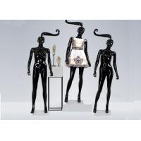 Buy cheap Glossy Black Long hair Shop Display Mannequin For Garment Display from wholesalers