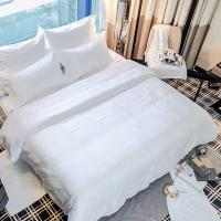 Buy cheap Hotel linen wholesale supplies 100% cotton jacquard bed bedding set hotel quilt comforter set from wholesalers