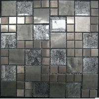 Buy cheap Stone Mixed Crystal Glass Mosaic Tile, Stainless Steel Matt Mosaic Wall Tiles from wholesalers