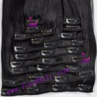 China 100% Virgin Remy Hair Clip In Hair Extension on sale