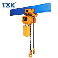 TXK 3 Ton Electric Hoist With Trolley Overload Protection And Safety Brake System SGS  Certificate