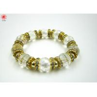 Buy cheap Crystal Transparent Bead Charm Bracelets Unisex For Anniversary Gift product