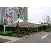 Buy cheap PDFE Parking Tensile Structure Driveway Car Canopy Tents , Car Awning Shelter With Membrane Sail from wholesalers