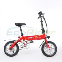 Buy cheap EcoRider 36v 7.2ah lithium battery  250w brushless 2 wheel foldable electric bicycle with Folding pedals for adults from wholesalers