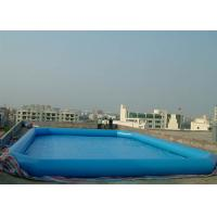 Buy cheap Commercial Grade Inflatable Water Pool , Above Ground Portable Pools Fire-Resistant Material from wholesalers