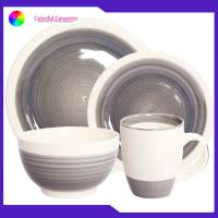 Buy cheap Ceramic Dinnerware Set stoneware coffee mug 5.5inch bowl hand painted dessert plates product