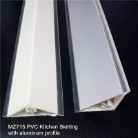 Buy cheap decorative pvc tabletop skirting with flat aluminum profile for kitchen cabinet from wholesalers