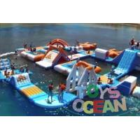 Buy cheap Adults Square Inflatable Floating Backyard Water Slide Park Waterproof 30X30M from Wholesalers
