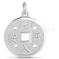 Buy cheap Retro Silver dollar Copper coins Pendant The ancient Qing Dynasty Stainless steel Pendant from wholesalers