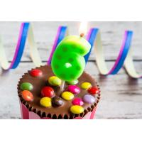 Buy cheap Hand Painting 0-9 Number Candles For Birthday Cakes With Dots Design product