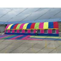 Buy cheap Colorful Semicircle Inflatable Dome Tent PVC Waterproof With Luxury Lining Decoration from wholesalers